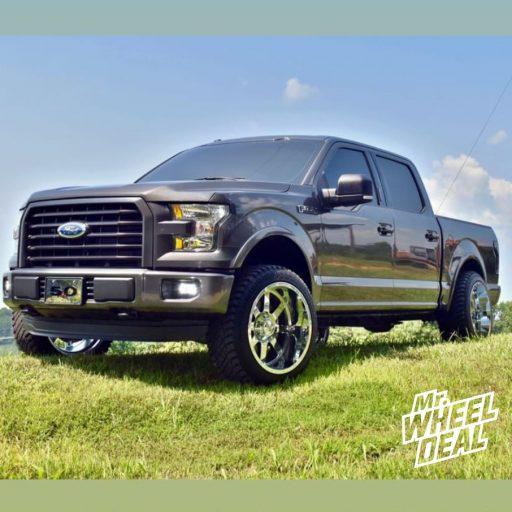 2016 Ford F-150 with 22x12 Gear Alloy Big Block Chrome wheels and 305/45R22 Atturo Trail Blade XT tires