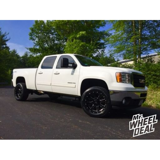 "2011 GMC Sierra 2500HD with 20x10"" Black Raptor Criminally Insane -22mm wheels and 305/50R20 Toyo Proxes S/T tires"